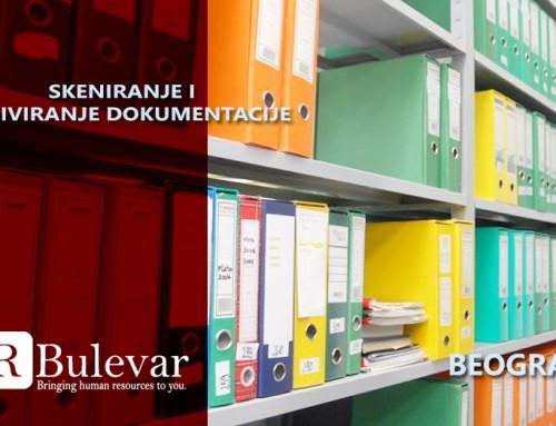 Skeniranje i arhiviranje dokumentacije | Oglasi za posao, Beograd
