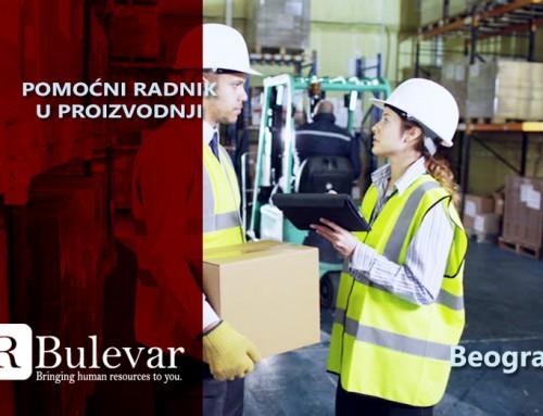 Pomoćni radnik u proizvodnji | Oglasi za posao, Beograd