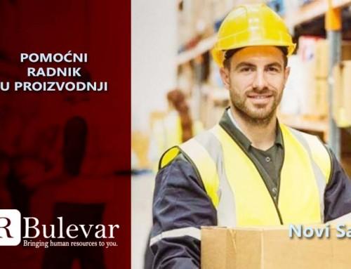 Pomoćni radnik u proizvodnji | Oglasi za posao, Novi Sad