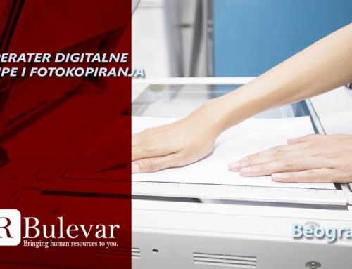Operater digitalne štampe i fotokopiranja | Oglasi za posao, Beograd