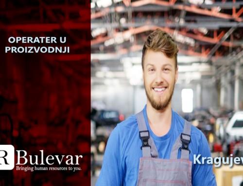 Operater u proizvodnji | Oglasi za posao, Kragujevac