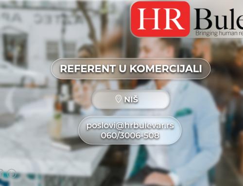 Referent u komercijali| Oglasi za posao, Niš