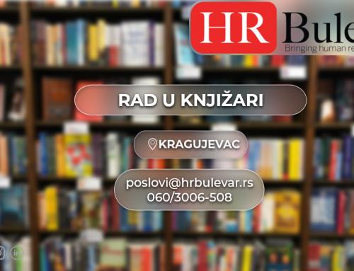 Prodavac u knjižari | Oglasi za posao, Kragujevac