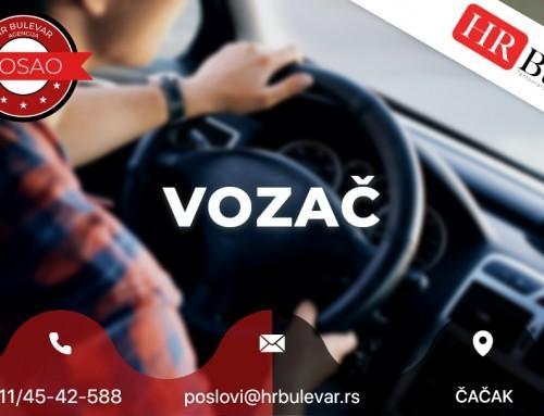 Vozač | Oglasi za posao, Čačak