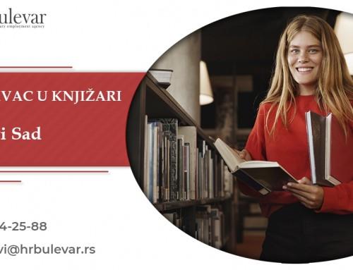 Prodavac u knjižari | Oglasi za posao, Novi Sad
