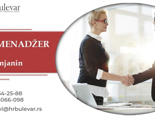 HR Menadžer | Oglasi za posao, Zrenjanin